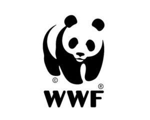 Logo espacio negativo panda WWF
