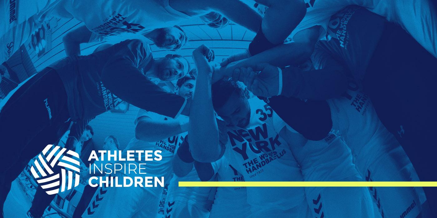 Athletes inspire Children Logo con fondo
