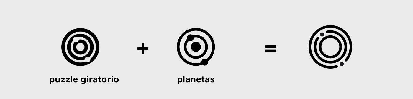 Concepto Logotipo Puzzle Sideral