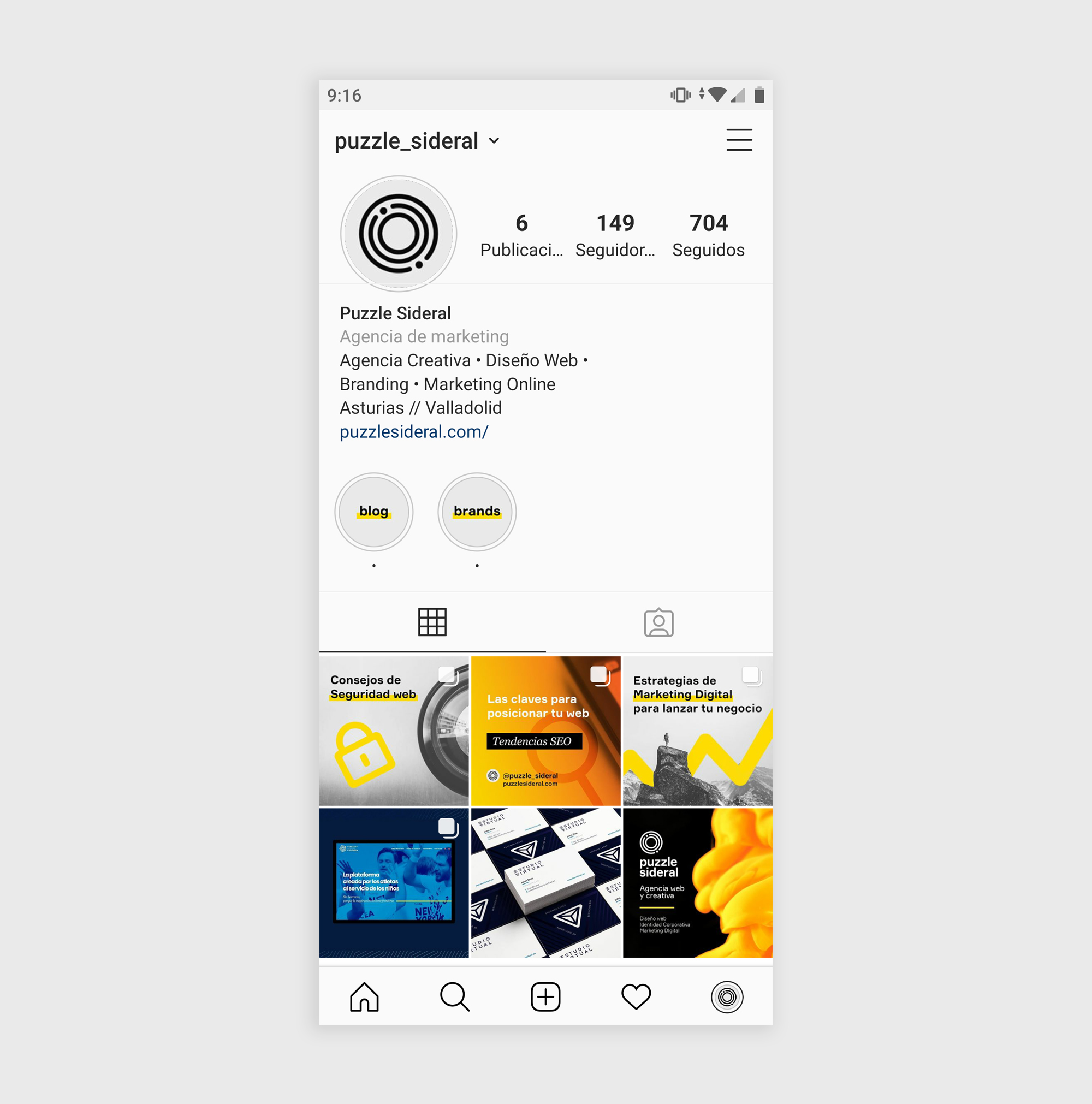 Diseño Feed Instagram