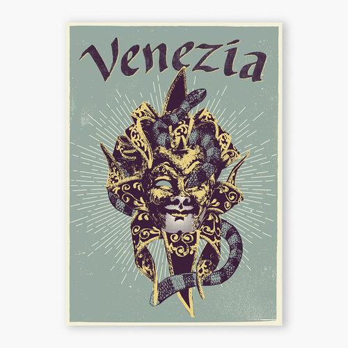 Poster serigrafiado Venezia
